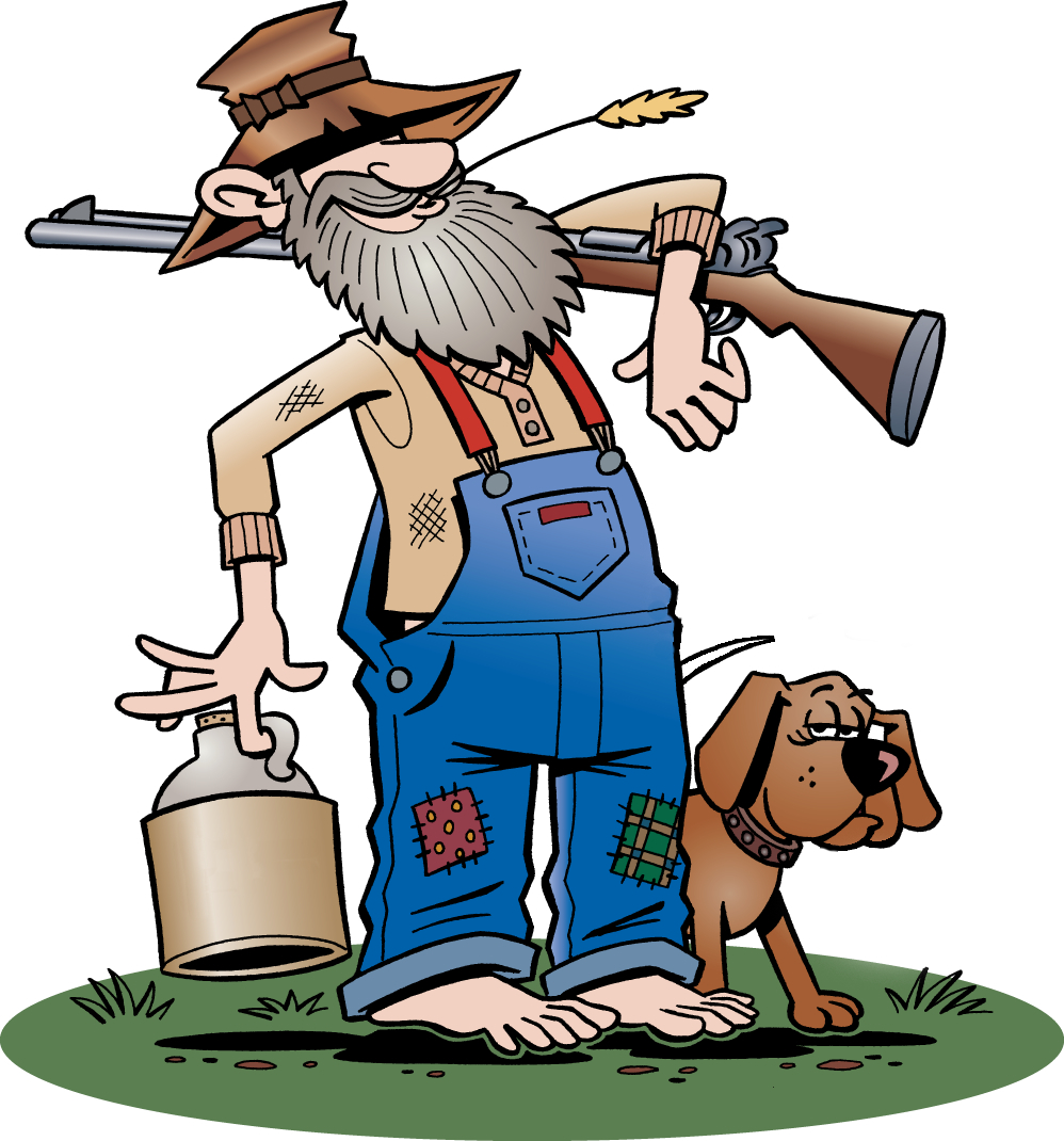 998x1070 Hillbilly Cartoon Clipart