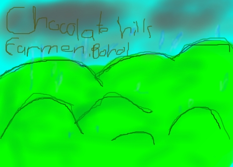470x338 Chocolate Hills By Ppatalinghug (Landscapes Drawing)