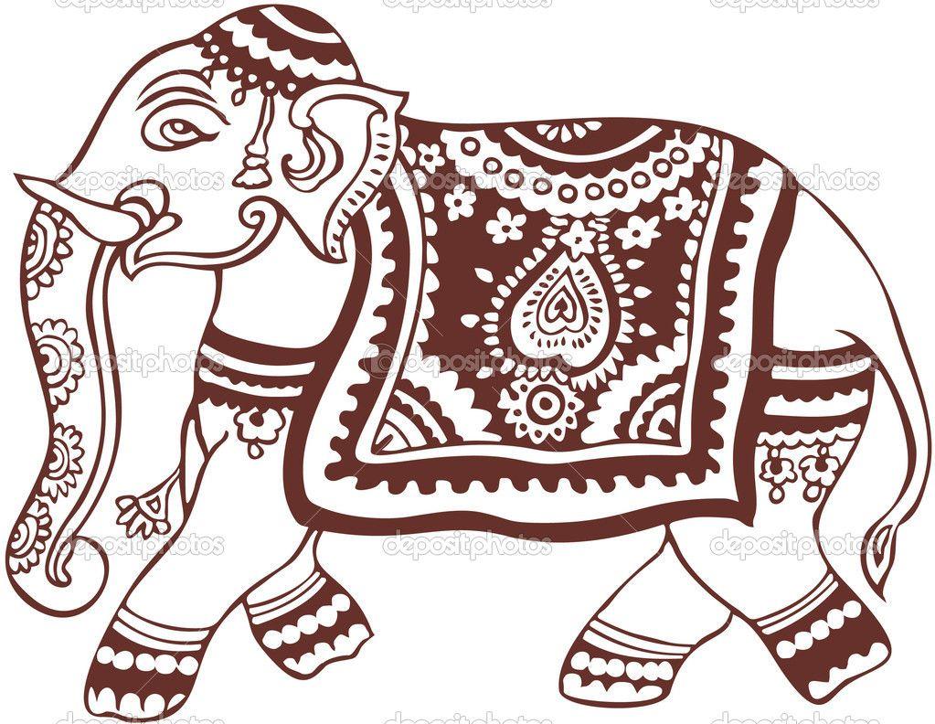 1023x792 Elephant Clip Art Free Indian Domestic Elephant Design