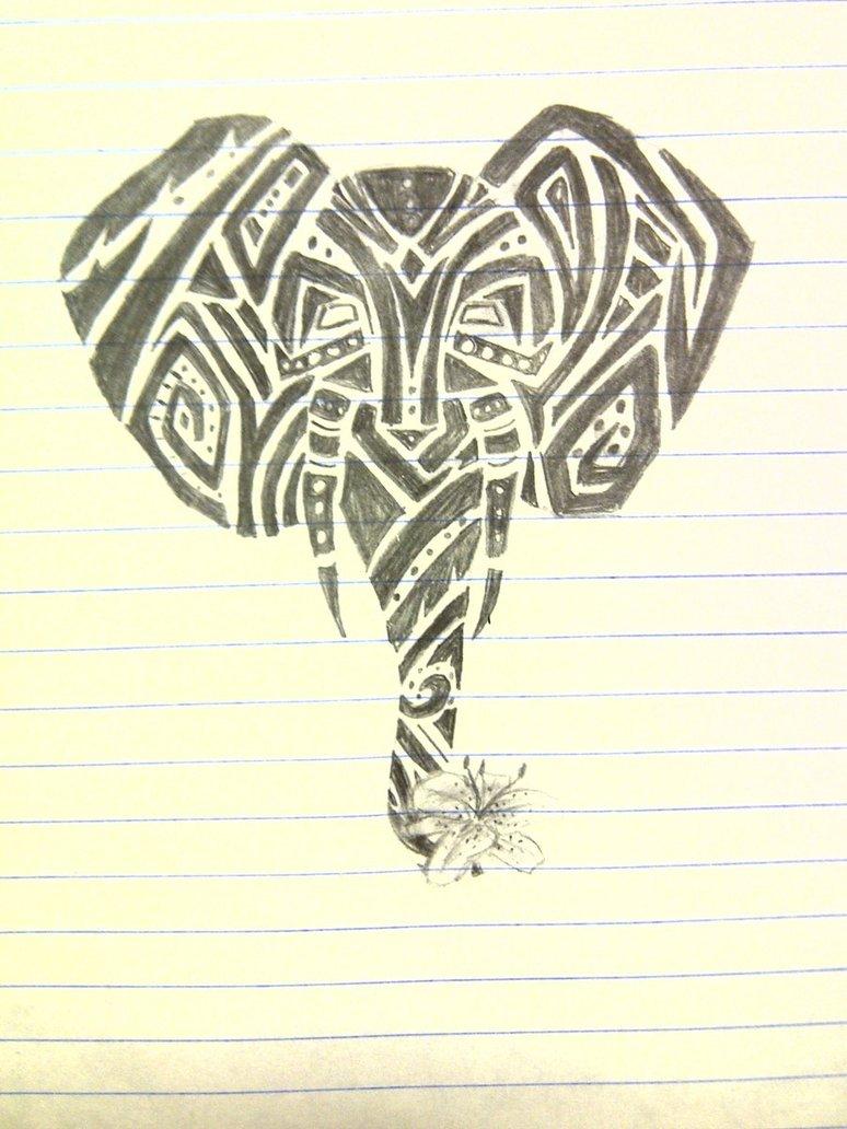 774x1032 Tribal Elephant Tattoo By Audtopia