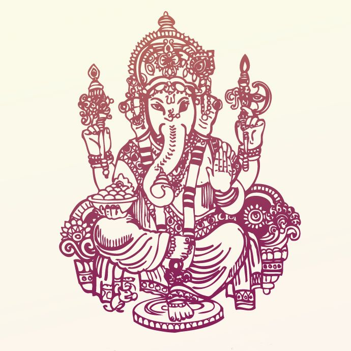 690x690 Hindu God Ganesh Vector Art Hindu Gods Ganesh
