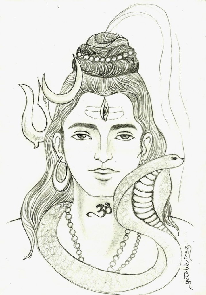 717x1024 hindu god siva hd pencil drawing photos