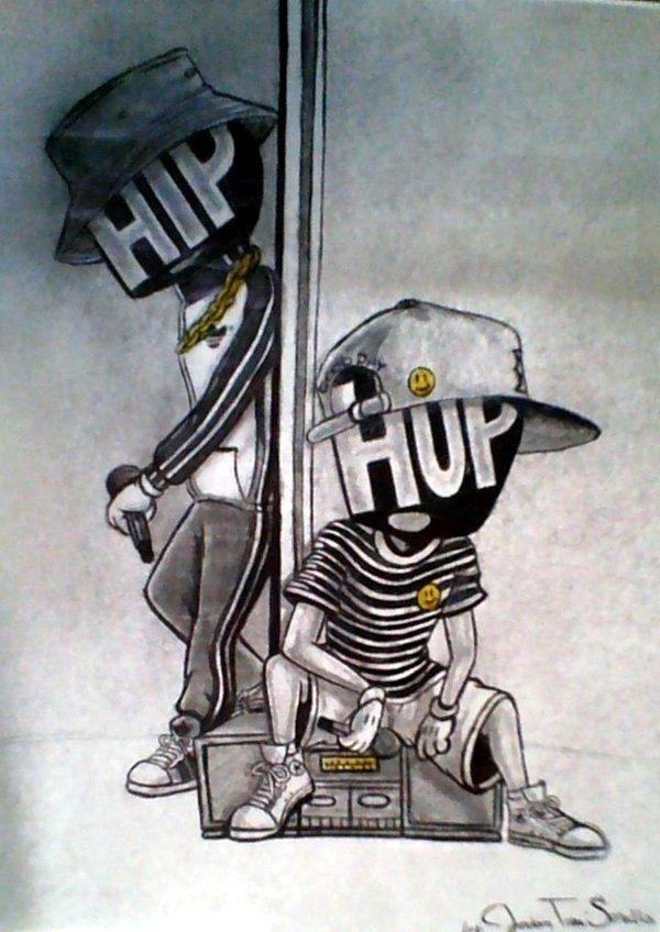 600x848 Hip Hop Original Drawing By Kingvintage