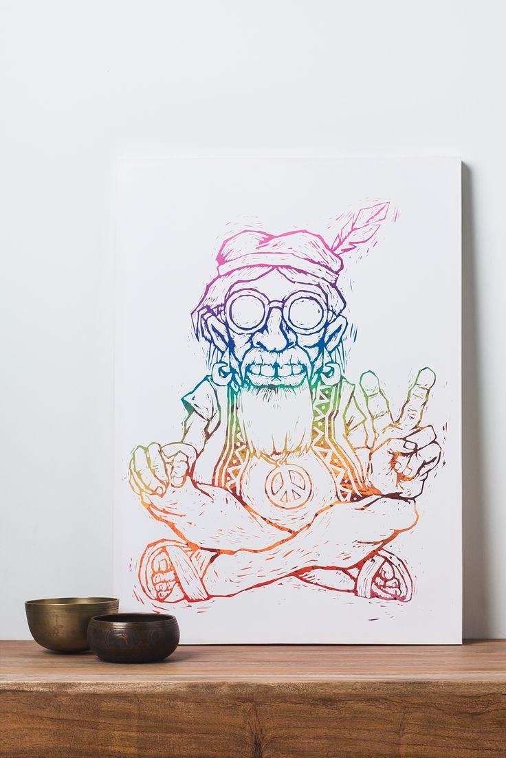 736x1103 Street Wall Art Drawing Canva Best Hippie Drawing Ideas