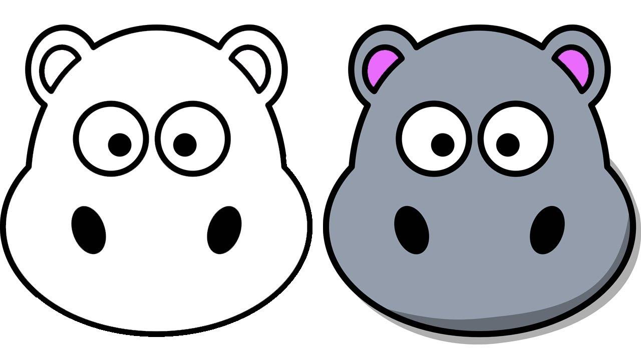 1280x720 How To Draw A Cartoon Hippo