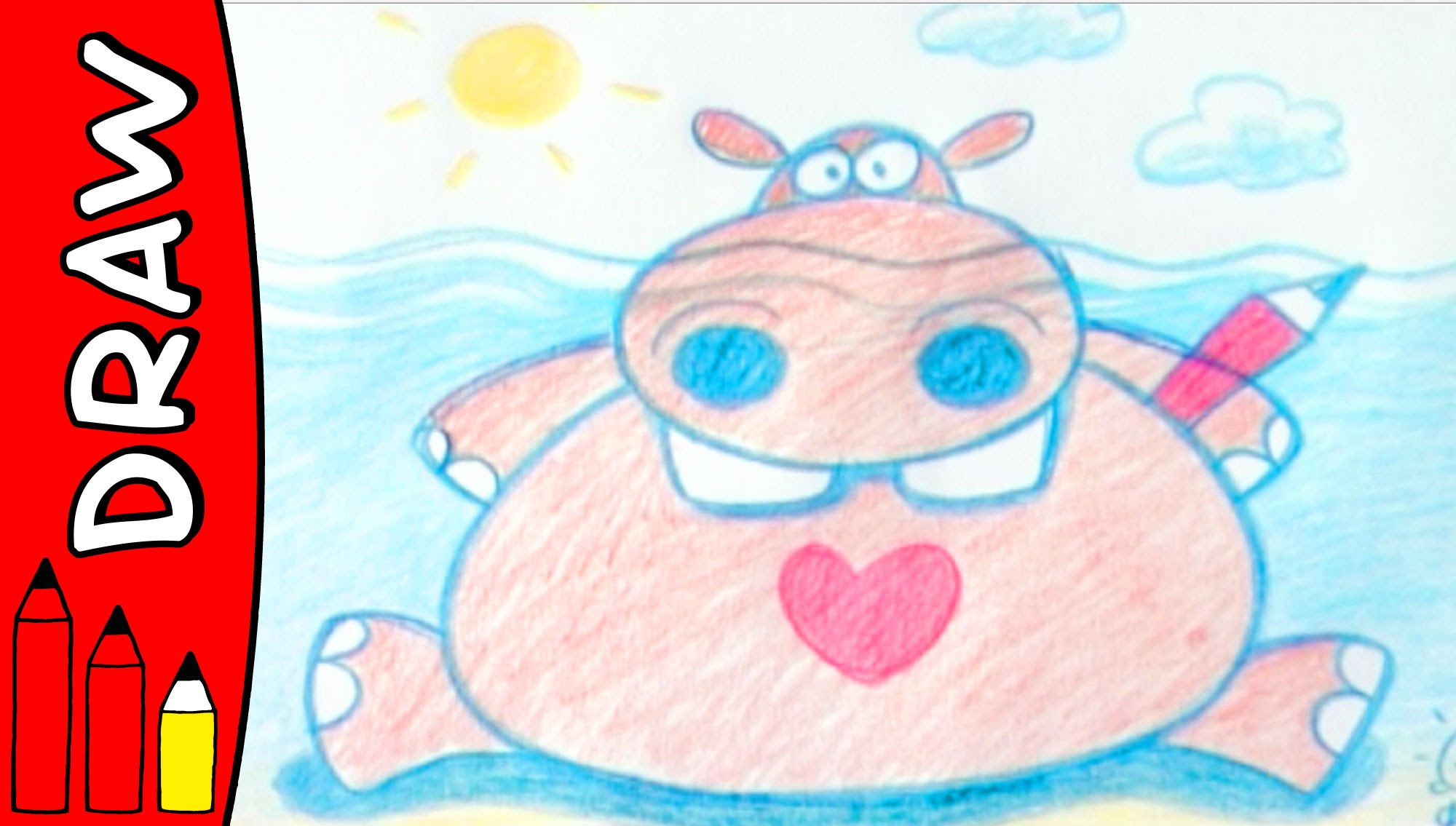 2000x1135 How To Draw A Hippo Art Ideas For Kids Kristiansen