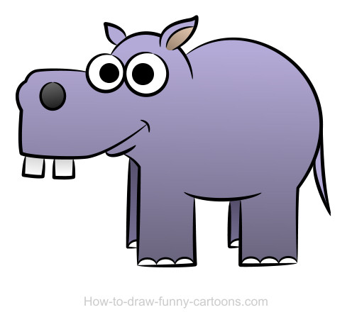hippo drawing step by step at getdrawings com free for personal