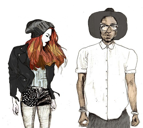 Hipster Fashion Sketches Tumblr