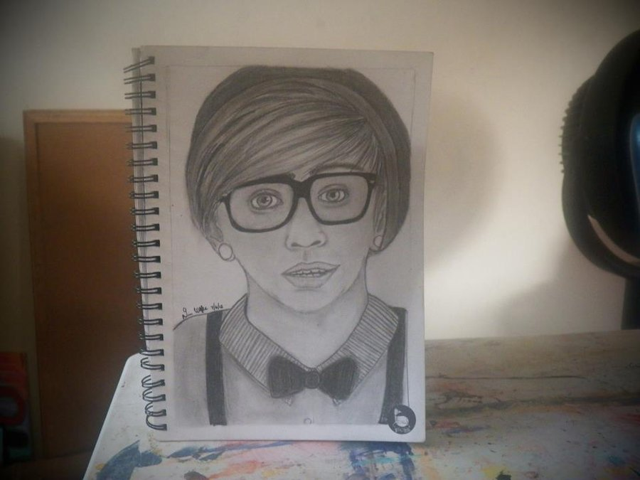 900x675 Hipster Boy Drawing By Flowinsanity