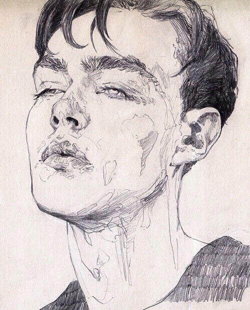 500x620 Art, Beautiful, Black, Black And White, Boy, Dark, Drawing, Grunge
