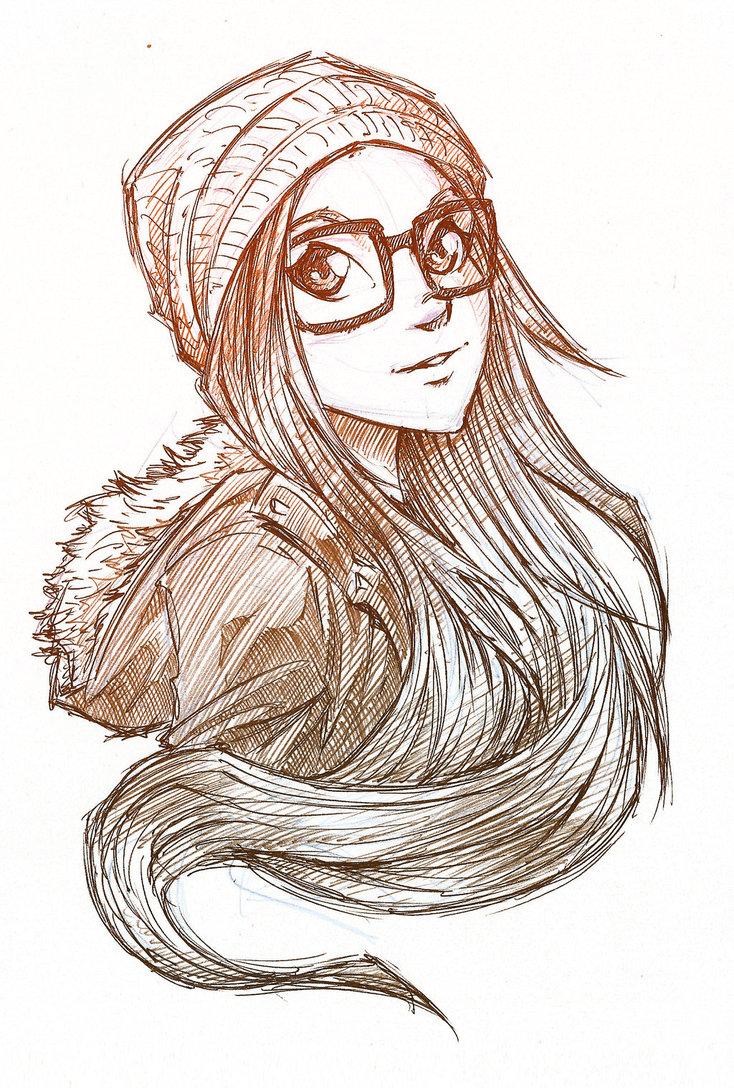 734x1088 Hipster Girl By Arucardpl