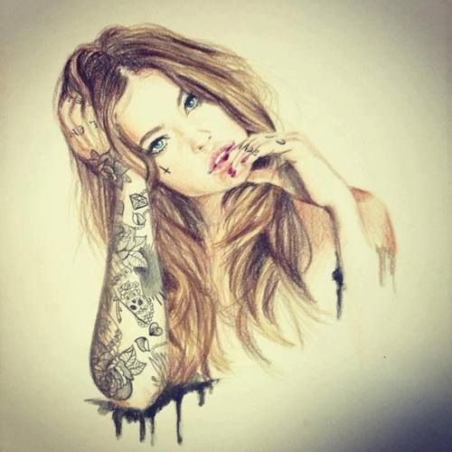 500x500 Hipster Girl Drawing Tumblr