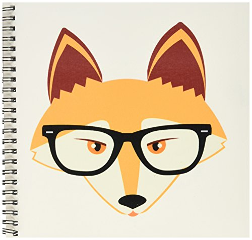 500x477 3drose Db 175372 1 Cute Hipster Red Fox With Glasses Drawing Book