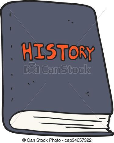 374x470 Freehand Drawn Cartoon History Book Vector Illustration