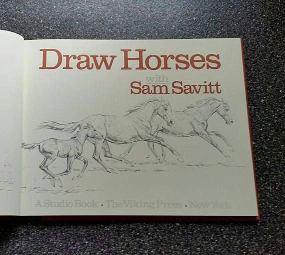 570x511 Horse Drawing Book Draw Horses With Sam Savitt How To Draw