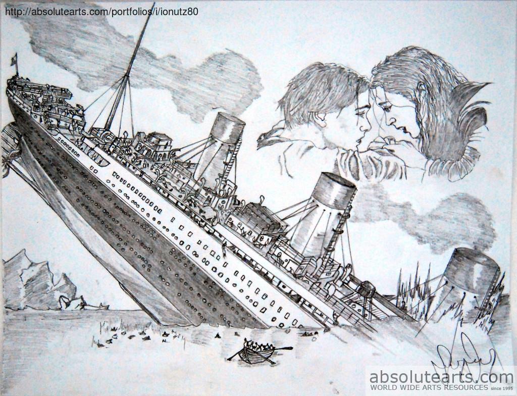 1024x784 Ionel Grozavu Artwork Titanic Original Drawing Pencil History Art