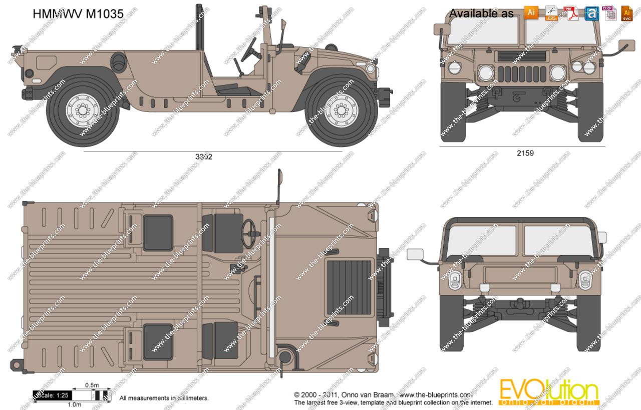 1280x820 Hmmwv M1035 Vector Drawing
