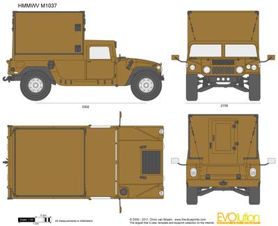 400x326 Hmmwv M1037 Vector Drawing