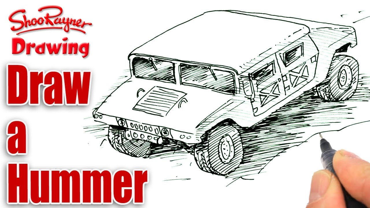 1280x720 How To Draw A Humvee