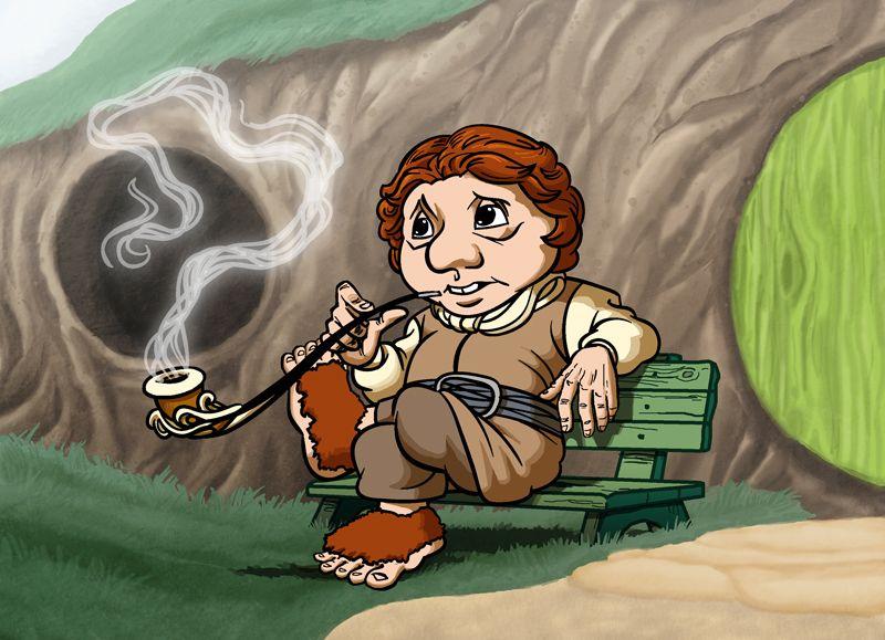 800x579 A Hobbit Study