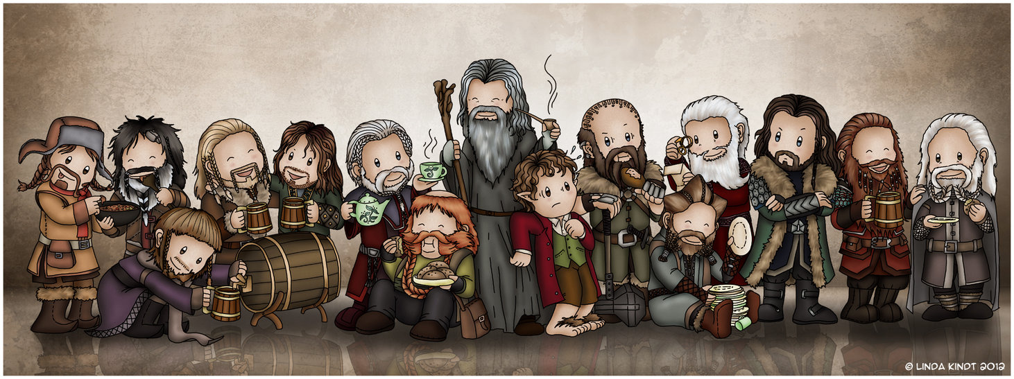 1462x547 Enough Dwarves For You Yet, Gandalf By Isriana