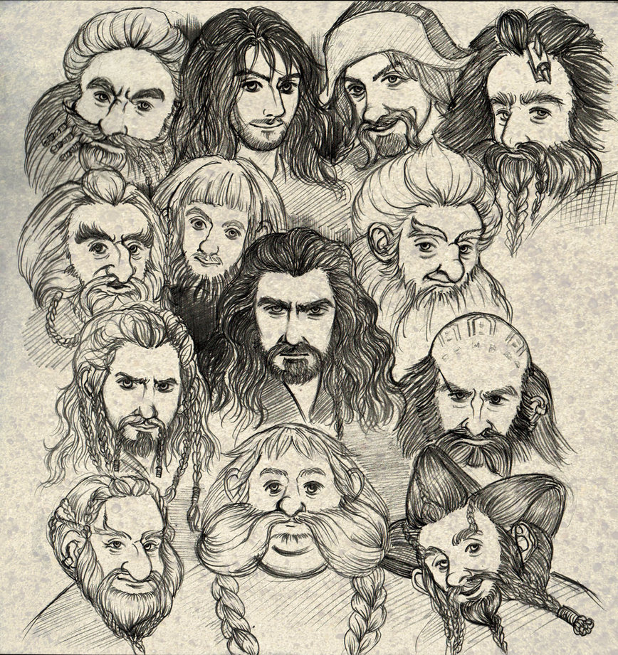 868x921 The Hobbit Dwarves By Ekocentric