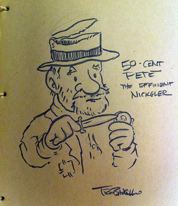 600x695 My Drawing Of A Hobo Nickeler Art In The Margins