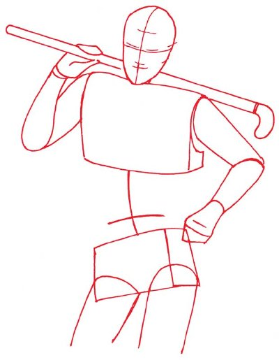 400x515 1. Draw The Body Outline