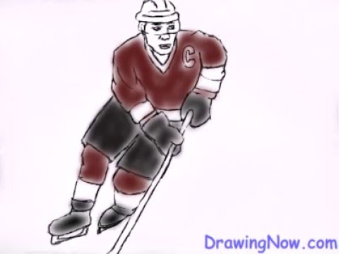 480x360 How To Draw A Hockey Player