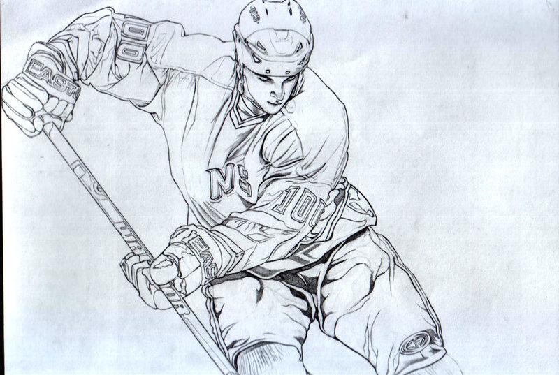 800x537 Hockey Player Commission Piece By Aramismarron