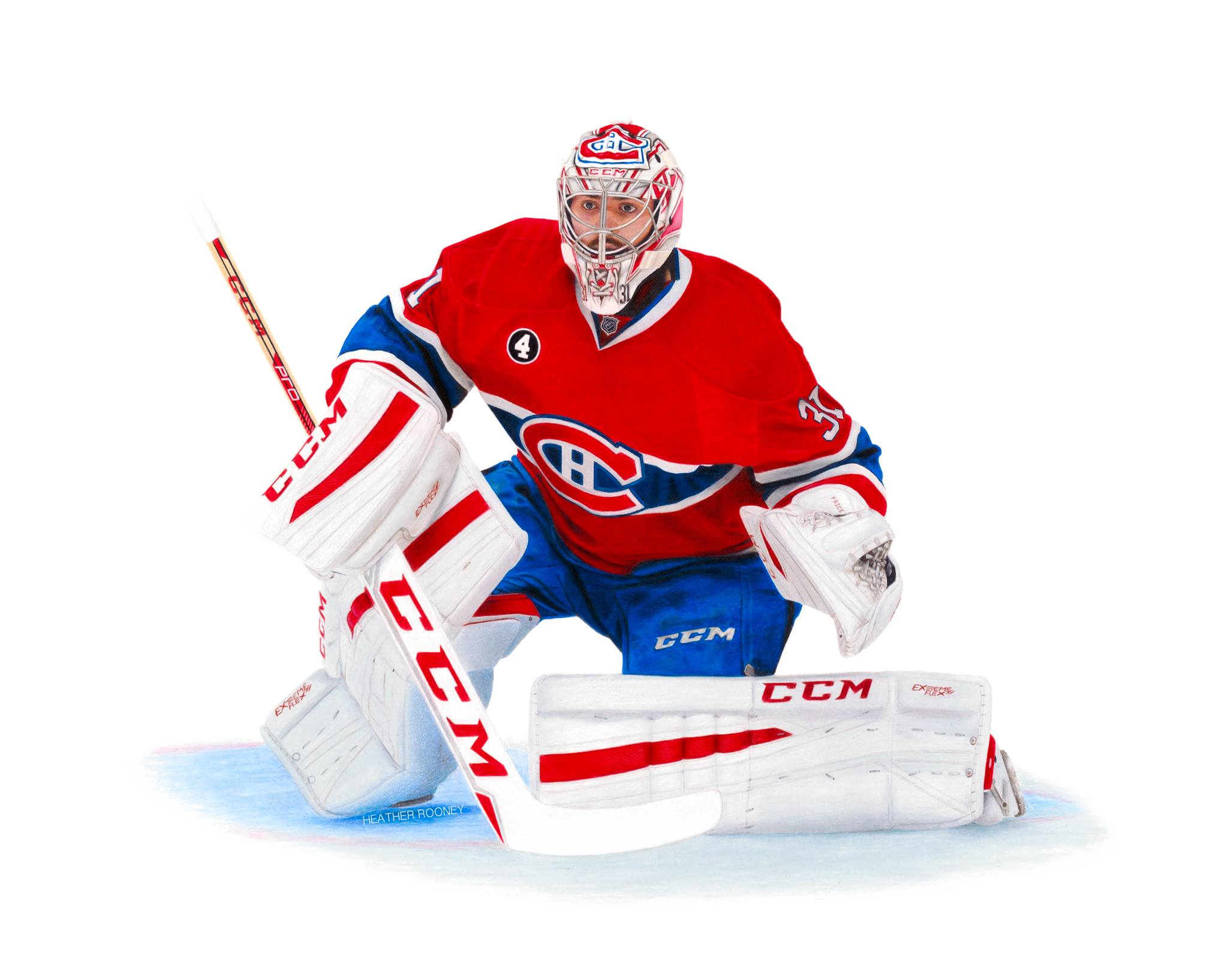 2048x1635 Drawing Carey Price Realistic Color Pencil Colored