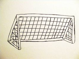 266x200 How To Draw A Soccer Goal Goal, Doodles And Drawings
