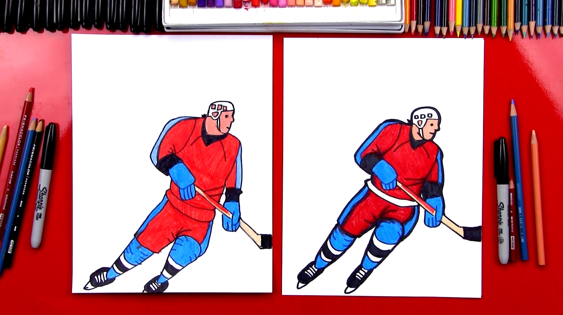 1915x1073 How To Draw A Hockey Player