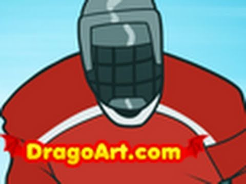 480x360 How To Draw A Hockey Player, Hockey Player, Step By Step