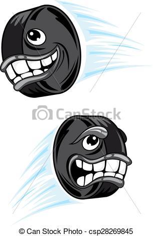 305x470 Hockey Puck Cartoon Characters Mascot Design. Cartoon Flying