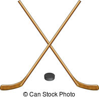 196x194 Ice Hockey Sticks And Puck. A 3d Render Of The Center Mark