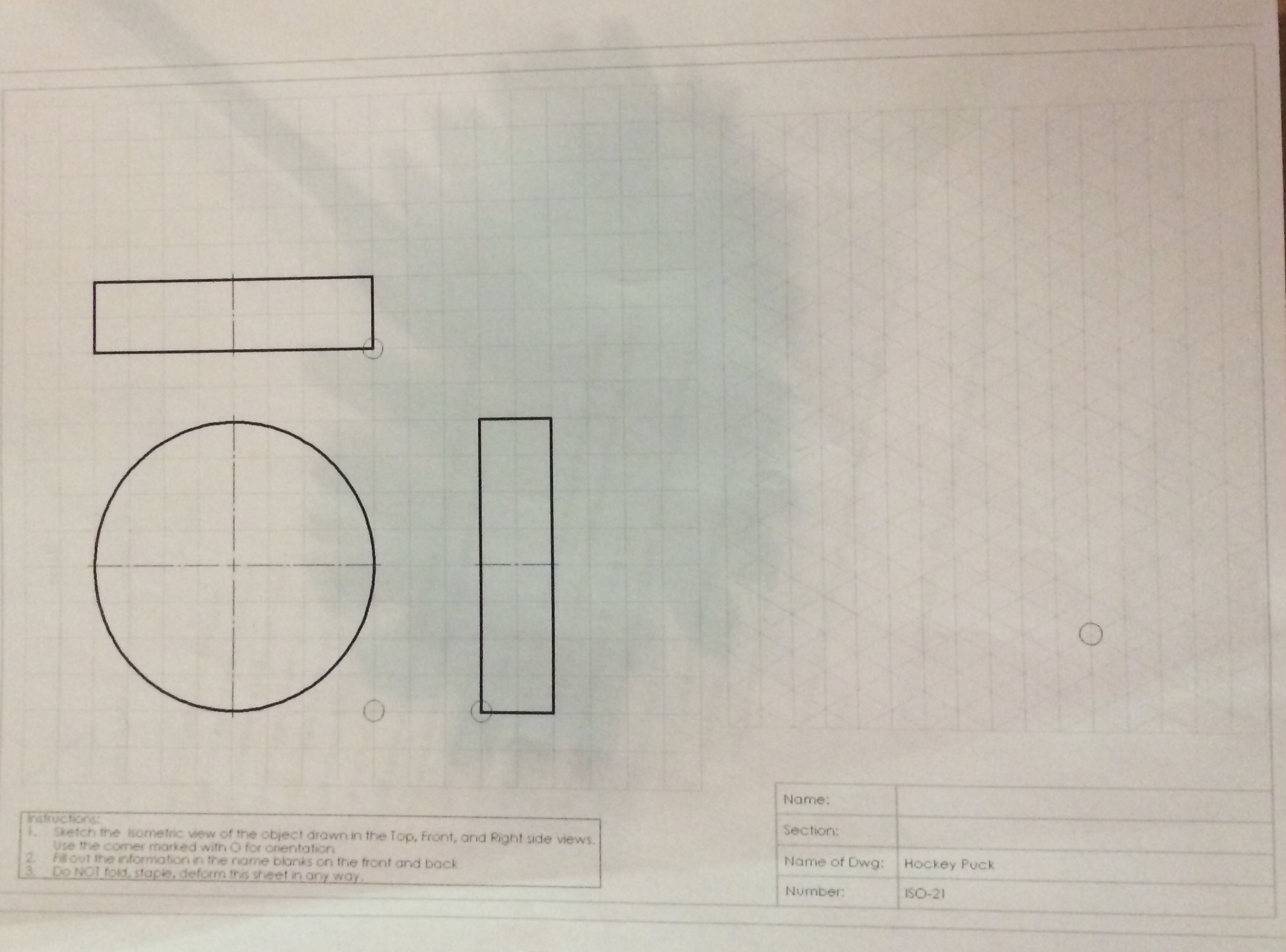 2130x1578 Solved Sketch The Isometric View Of The Object Drawn In T