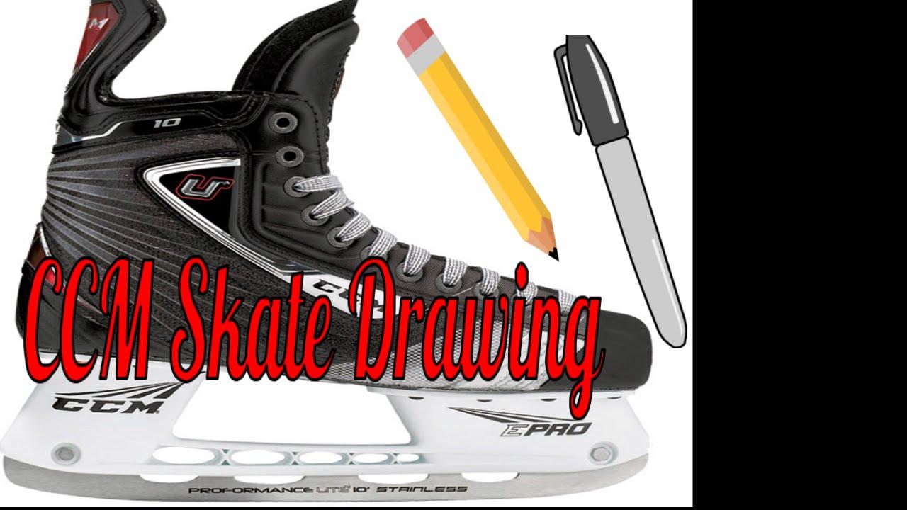 1280x720 Ccm Hockey Skate Drawing