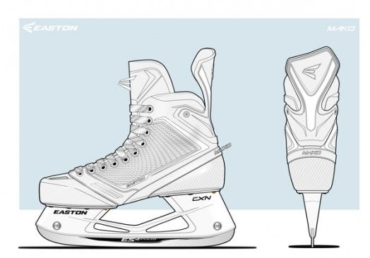 524x366 Easton Mako Hockey Skates By Will Keegan Sketches