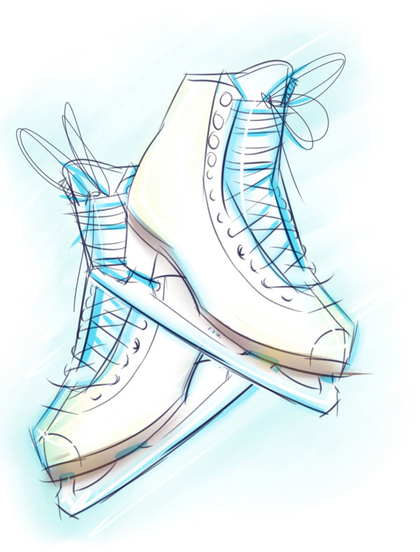 600x789 How To Create Ice Skates In A Softly Drawn Vector Style In Illustrator