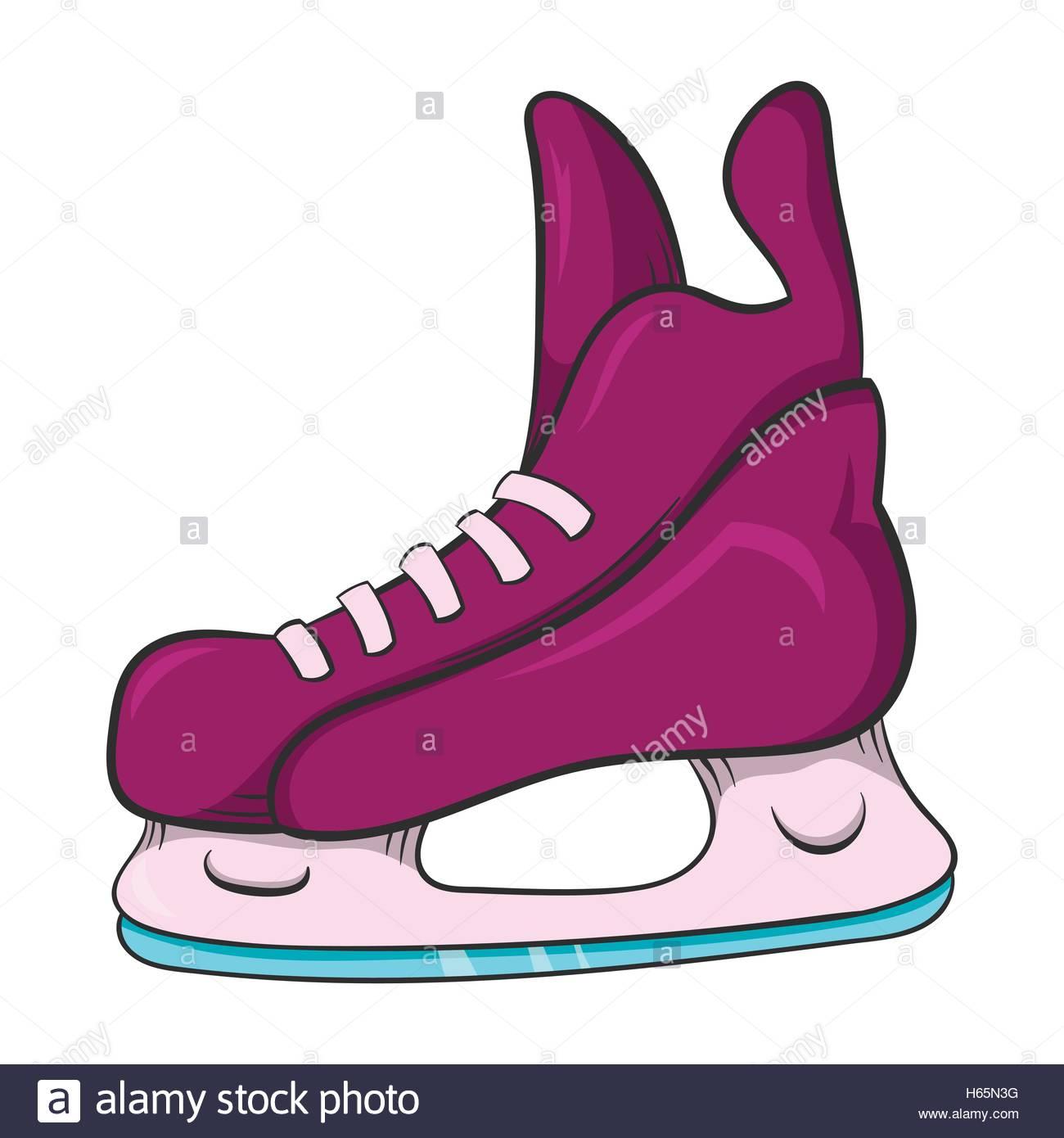 1300x1390 Ice Hockey Skates Icon, Cartoon Style Stock Vector Art