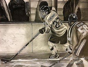 300x230 Hockey Skates Drawings Fine Art America