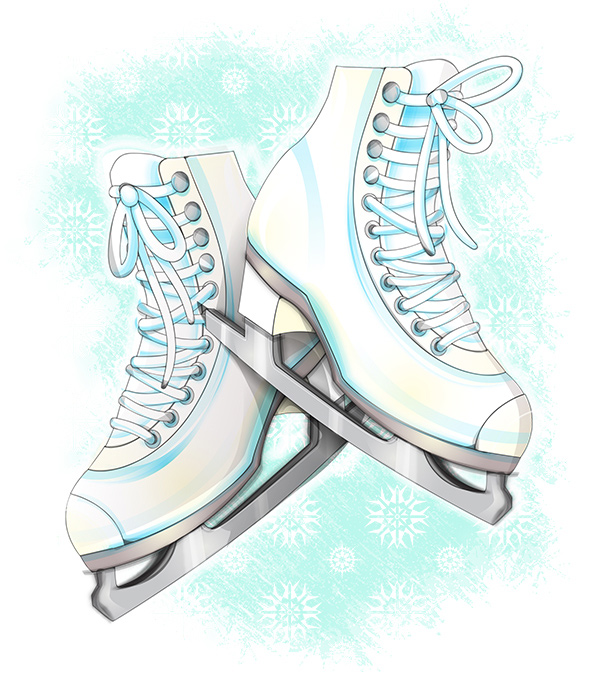 600x675 To Create Ice Skates In A Softly Drawn Vector Style In Illustrator