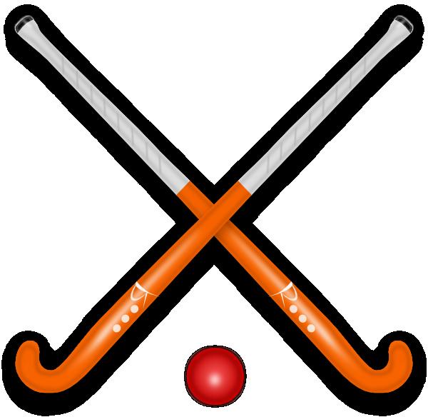 600x584 Hockey Stick Amp Ball Clip Art