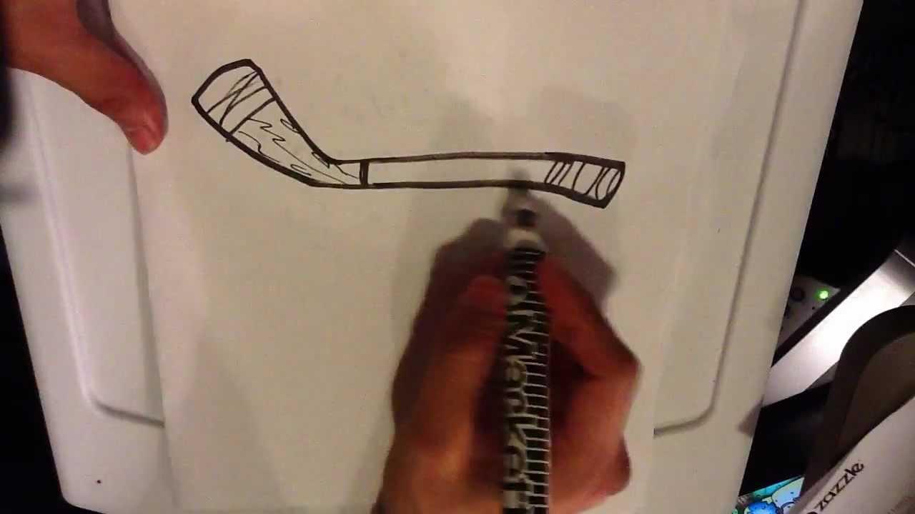 1280x720 How To Draw A Hockey Stick