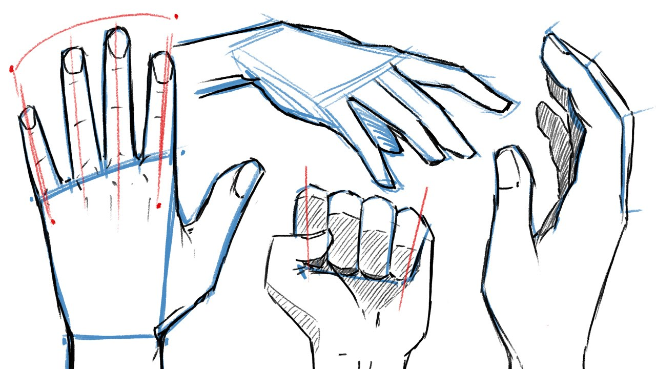 1280x720 How To Draw Hands And Hand Poses!