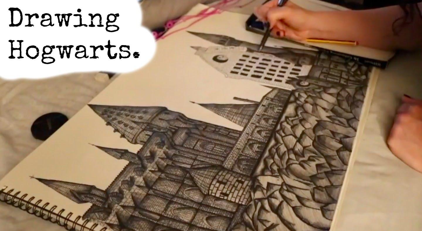 1439x789 Drawing Hogwarts Castle