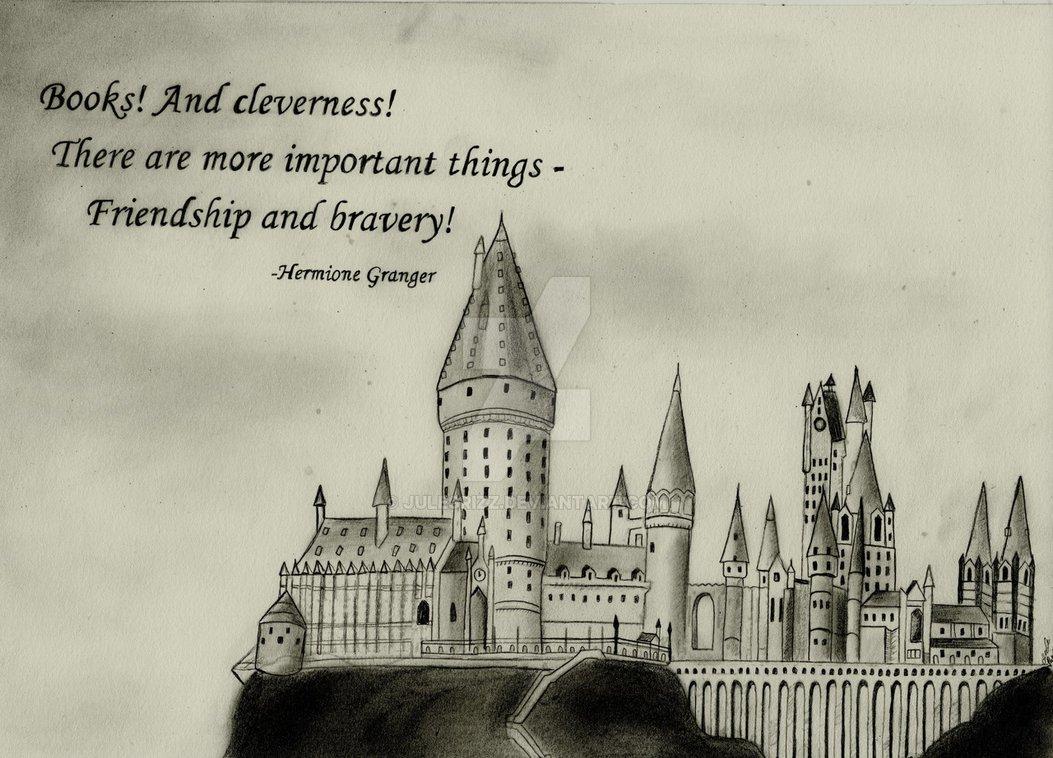 1053x758 Hogwarts Castle (Graphite Drawing) By Julesrizz