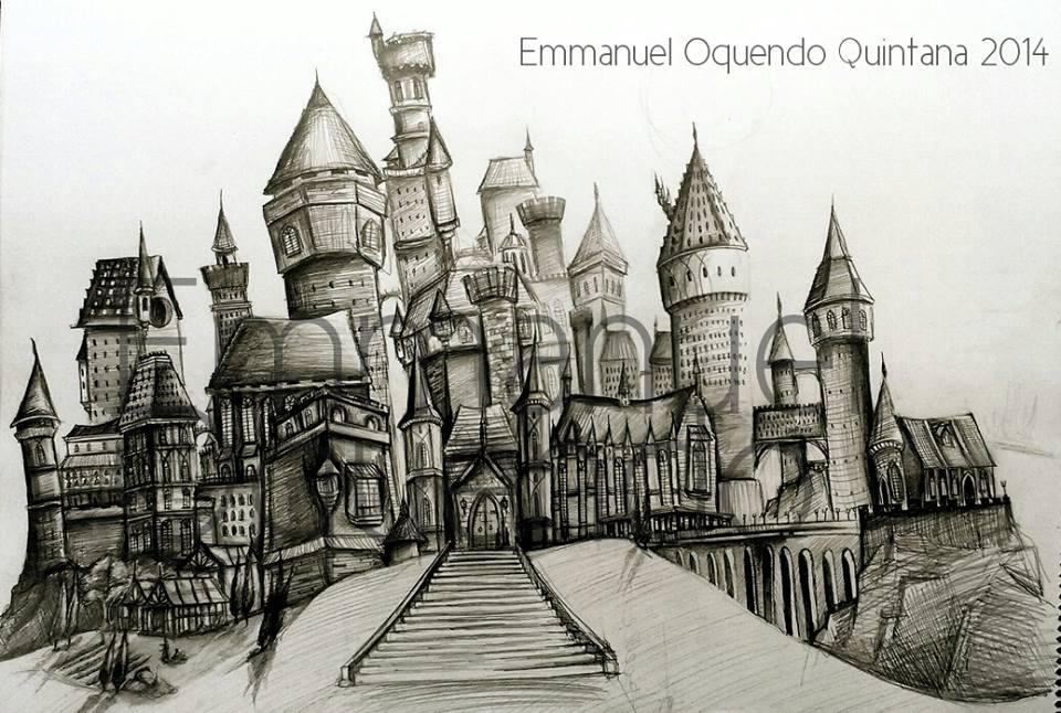 960x646 Hogwarts Castle Sketch By Emmanuel Oquendo