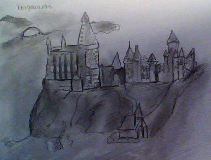 425x323 Hogwarts Castle Drawing By Rileyfelton